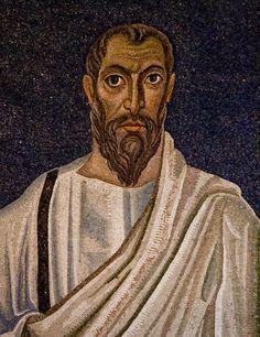 Paulus Detail of the century apse mosaic portrait of St Paul the apostle.Rome Santi Cosma e Damiano Catholic Saints, Patron Saints, Paul The Apostle, Rome, Mosaic Portrait, Early Christian, Sacred Art, African Art, Art And Architecture
