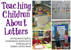 Teaching Children About Letters from Fun-A-Day