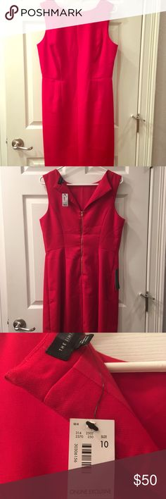 Coca Cola Red Shift Dress by The Limited! BNWT structured shift dress in a candy apple shade of red by The Limited. The eye-catching and vibrant color is sure to spice up your work wardrobe! Material is polyester. No flaws! Just needs ironing. Perfect dress to have on hand for the upcoming holiday season. The Limited Dresses Midi