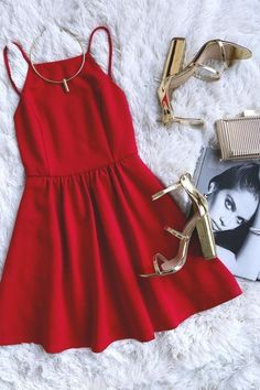 simple red short Prom Dresses ,prom gown,short prom dress, homecoming from modern sky Little Dresses, Pretty Dresses, Beautiful Dresses, Short Red Prom Dresses, Homecoming Dresses, Short Prom, Long Dresses, Prom Long, Ball Dresses