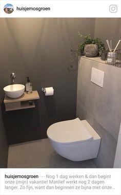 ⋅ ∙ ⋅ Nog 1 dag werken & dan begint onze (mi… – ⋅ ∙ ⋅ One more day of work & then our (mi … – Small Half Bathrooms, Bathroom Design Small, Bathroom Interior Design, Modern Bathroom, Bathroom Colors, Bathroom Ideas, Small Toilet Room, Guest Toilet, Downstairs Toilet