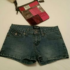 Angels Jean shorts Sexy jean shorts with bling on the back pockets. Shoes available for sale see shoe section. Angels  Shorts Jean Shorts