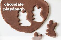 a little delightful: chocolate playdough