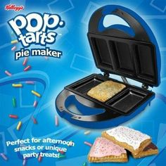 Smart Planet PTP-1 Pop Tarts Pie Maker by Smart Planet. $31.49. Recipe booklet included. Decorate each individually. Non-stick for easy clean-up. Cheaper and healthier breakfast than store bought. Makes 3 large pop tarts in minutes. Make delicious treats with your Pop Tarts Pie Maker. Make 3 mini-pies at a time. Each can have a different stuffing and topping. Use the recipe booklet included to make treats so easily that even a child can do it.