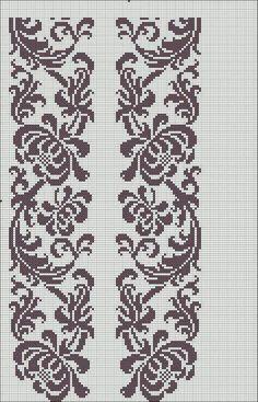 Beading _ Pattern - Motif / Earrings / Band ___ Square Sttich or Bead Loomwork ___ Cross Stitch Borders, Cross Stitch Flowers, Cross Stitch Charts, Cross Stitch Designs, Cross Stitching, Cross Stitch Embroidery, Embroidery Patterns, Cross Stitch Patterns, Filet Crochet