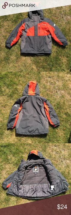 Boys Free Country FCXtreme Coat Boys small (7/8) Free Country coat. This coat has all the bells and whistles Front zip closure W/ Velcro flap Sleeves have Velcro closure for adjustability 2 Inside pocket for cell phone & iPod both Velcro close. All 3 outside pockets have zippers for secure closure Rip stock shell is 100% polyester as well as lining and feeling  Excellent used condition  No stains, snags or damage Non smoking environment   Not the right size ,color or style you're looking for…