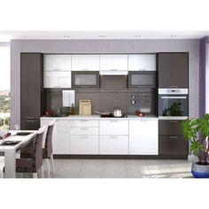 Kuchyňa VALERIA wenge/biely lesk na mieru