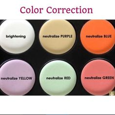 MAKEUP TIP!!  COLOR CORRECTION: You can used different shades of concealer to correct your skin complexion.  Green is used to correct redness.  Yellow/Peach/Orange is used to correct dark patches bags under your eyes and blue or purple eye circles. Red Lipstick/ Lipliner can also be used but most women will tell you orange or coral seem to work the best!  Lavender or Purple can be used on yellow undertones or bruises.  If you're looking for amazing makeup click the link in my profile to…