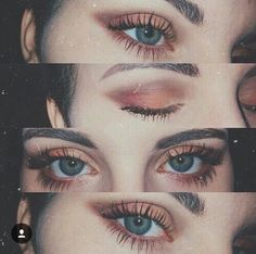 Beauty makeup, makeup goals, eye makeup tips, makeup trends, peach eye