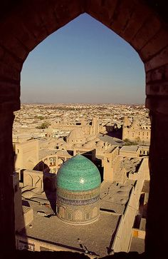 Bukhara, Uzbekistan Islamic City, Islamic World, Mosque Architecture, Art And Architecture, Places Around The World, Around The Worlds, Place Of Worship, Moorish, Central Asia