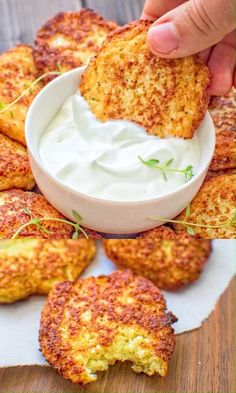 Simple and very tasty, this kid-friendly Basic Cauliflower Fritters recipe is a . - Simple and very tasty, this kid-friendly Basic Cauliflower Fritters recipe is a must-have for any h - Baby Food Recipes, Low Carb Recipes, Vegetarian Recipes, Cooking Recipes, Dinner Recipes, Vegetarian Dish, Health Recipes, Easy Cooking, Healthy Recipes For Kids