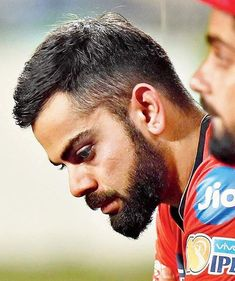 Image may contain: 1 person, beard and closeup Slick Back Haircut, Virat Kohli Wallpapers, Virat And Anushka, Good Morning Everyone, Anushka Sharma, Forever Love, Fan Page, Sport Man, Best Couple