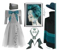 """Grey Winter Dress under $100"" by ragnh-mjos ❤ liked on Polyvore featuring Color My Life, Casadei, Karen Millen and Oscar de la Renta"