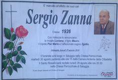 QUI - SALUGGIA: REQUIEM PER SERGIO ZANNA