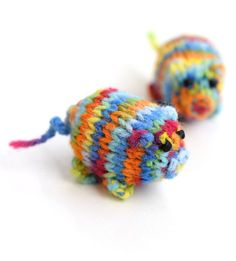 New  piggy with bead eyes in rainbow colors little by TinyOrchids