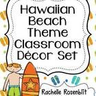 This classroom set includes everything you need for a hawaiian or beach themed classroom:  Included are:  Alphabet Posters Calendar Cards Days of t...