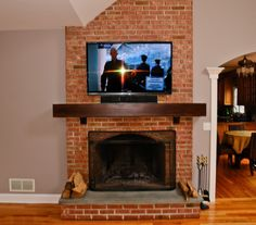 Fireplace: Neat Rustic Brick Fireplace With Victorian Wood Pillars And Mantel Brick Fireplace Fireplace Interior Accent Ideas Using Brick Fireplace from Understanding The Pros And Cons Of Brick Fireplace Designs