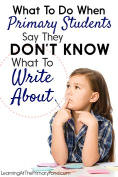 If your students frequently tell you that they don't know what to write about, read the ideas in this post! It includes suggested anchor charts, an activity you can do at the beginning of each writing unit, and ideas for using mentor texts to help kids h Writing Lessons, Writing Resources, Writing Activities, Writing Ideas, Writing Skills, Second Grade Writing, Teaching Second Grade, Kindergarten Writing, Teaching Writing