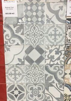 TILE DEALS / SAMPLES Tweeford Grey Moroccan Victorian Vintage Wall ...