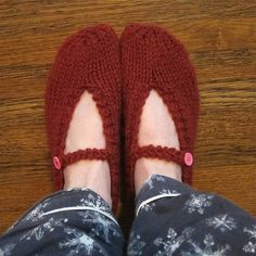 Just Crafty Enough – Project – Mary Jane Slippers Pattern-easy for beginners like me!