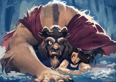 Beauty and the Beast Fan art by Anto Lehuss.