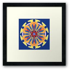 'Maṇḍala Framed Print by iopan Design Products, Framed Art Prints, Mandala, Classic T Shirts, Tapestry, Stuff To Buy, Tapestries, Mandalas