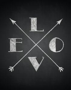 Love Arrows Art Print