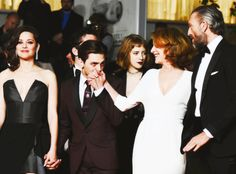 nowhollywood:  Marion Cotillard Xavier Dolan Nathalie Baye and Vincent Cassel at the premiere of Juste la fin du monde during the 69th Cannes Film Festival | 19.05.2016