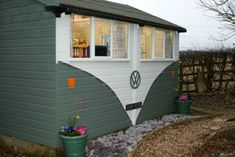 Forget the VW campervan, this woman has a VW shed
