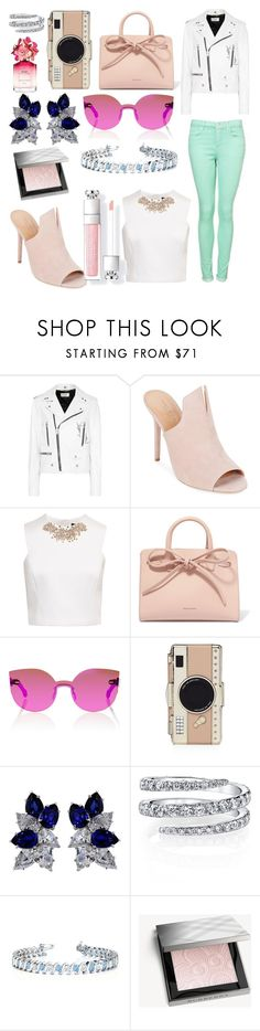 """""""Colored denim"""" by brittcmidfielder ❤ liked on Polyvore featuring Yves Saint Laurent, Halston Heritage, Ted Baker, Mansur Gavriel, RetroSuperFuture, Kate Spade, Fantasia, Allurez, Burberry and Marc Jacobs"""