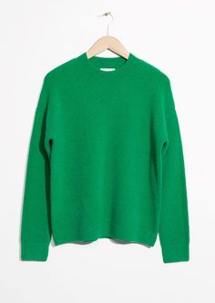 M Y  S T Y L E // Green knitted sweater (knit) by & Other Stories