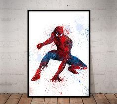 Your place to buy and sell all things handmade Spiderman Poster, Superhero Poster, Poster Marvel, World Map Decor, World Map Art, Marvel Nursery, Sunflower Room, Avengers, Detailed World Map