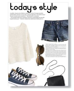 """Untitled #1223"" by andreastoessel ❤ liked on Polyvore featuring Lucky Brand, MANGO, Converse and Balmain"