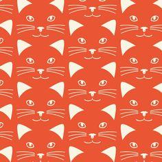 【Smile Cat】Orie's Animal textile design. #猫イラスト #テキスタイル #生地 #textile #design #テキスタイルデザイン #柄 #デザイン Textile Patterns, Textile Design, Textiles, Cats, Animals, Gatos, Animales, Animaux, Animal