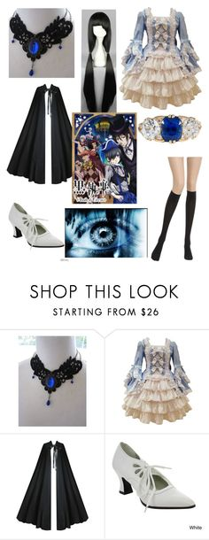 """black butler oc"" by nightmare-reaper ❤ liked on Polyvore featuring Funtasma, Wolford and Kawasaki"