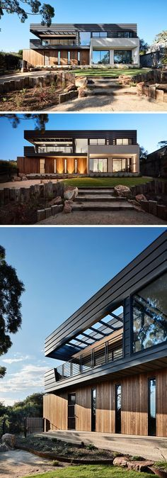 Architectural firm Bryant Alsop have designed a new home in Mount Martha, Australia, for a semi-retired couple who wanted to have a private haven to entertain guests. #Architecture #Landscaping #ModernHouse