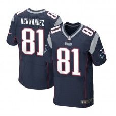 Men s Blue NIKE Elite New England Patriots  81 Aaron Hernandez Team Color NFL  Jersey 129.99 c96764134