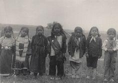 Seven little Sioux Indians, c.1899-1900