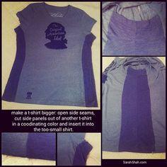 Upsize: How To Make A T-Shirt Bigger – Sarah Shah
