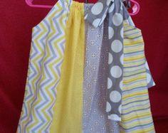 Pillowcase Dress - Lemonade Dot