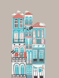 """Illustration of my home town"", by Carolina Buzio"