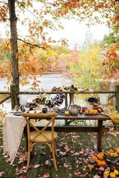 lovely fall alfresco