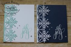 Snowflake Sentiments and That's the Tag combine for a clean and simple card.