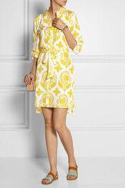 Diane von FurstenbergVera printed silk-habotai shirt dress