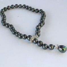 Golnar Jewelry - Black Pearl necklace TAMASIN, $99.00 (http://www.golnarjewelry.com/black-pearl-necklace-tamasin/)