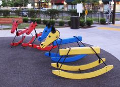 When I was a child the Nut Tree Airport and Restaurant was a stop for most all travelers both auto and airplane.  They had these giant brightly colored rocking horses out front.  The ones in the pictures are modified from the originals but give you an excellent idea of what they were like.  the eight year old in me knows they belong just outside of the hangar under the shade pergola. Vacaville, CA