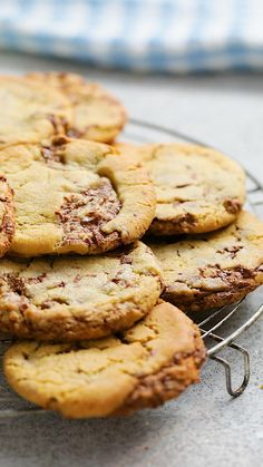 Super Cookies, Yummy Cookies, Baking Recipes, Cookie Recipes, Dessert Recipes, Baking Tips, Delicious Desserts, Yummy Food, Healthy Food