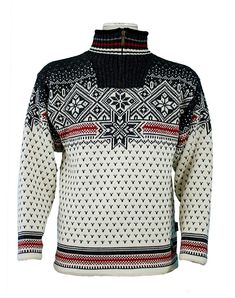 Dale of Norway Savalen WS Sweater (Cream / Drk Charcoal / Raspbe