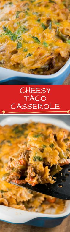 Cheesy Taco Casserole is a easy to make, comfort food recipe. Perfect for Taco…