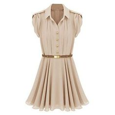 Flouncing Buttoned Skin Dress | pariscoming
